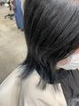 ブルーブラックで透けるような黒髪に♪