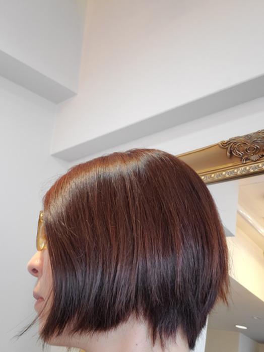 ヘナ終了後の髪の毛の色