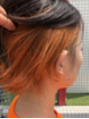 オレンジのインナーカラー