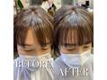 前髪の割れに【ヘアリセッター】髪質改善☆