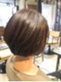 頭の形をきれいに魅せるショートボブ【鶴川/新百合】