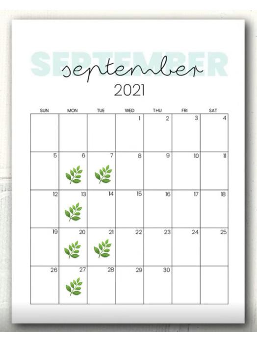 2021年9月の定休日のお知らせです!