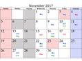 ヘアーメイク スクエア ウーノ(HAIR MAKE SQUARE uno)11月のスタッフスケジュールのお知らせ