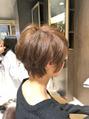 【大人ショート&ボブ】ひし形耳かけショート
