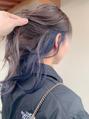 青紫インナーカラー○