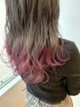 裾カラー・ピンク