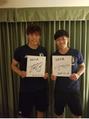 サッカー日本代表の遠藤選手と冨安選手と!