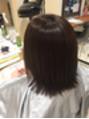 ピンピンの直毛さん→パーマをかけると、、。
