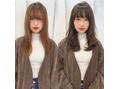 【山岡未夢】カットカラー before & after