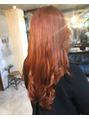 お客様style×オレンジヘア