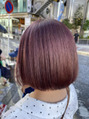 ブリーチあり。pink purple color