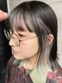 前髪もインナーカラー by Arasuna