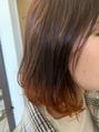 ヘアカルテ[オレンジの裾カラー]