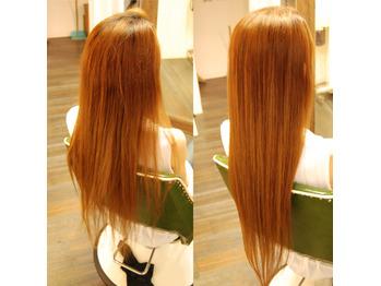 秋でも綺麗な髪で