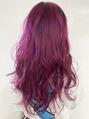 ユイマァルオアシス(YUIMARL OASIS)派手髪 × ピンクパープル