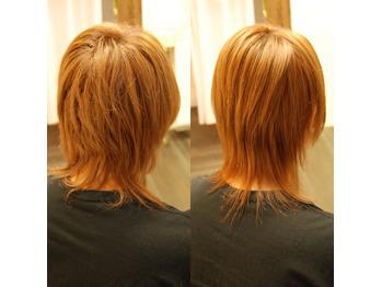 綺麗な髪へ