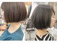 エトネ ヘアーサロン 仙台駅前(eTONe hair salon)重めボブ、軽めボブ