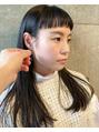 ショートな前髪×耳掛け黒髪ロング by Arasuna