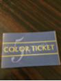 カラーチケット