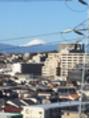 横浜からの冬化粧 富士山