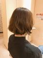 切りっぱなしボブでクセ毛も活かして、、、