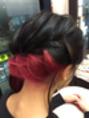 インナーカラーを生かしたヘアセット