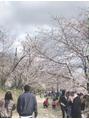 ジーナフクオカ(Zina FUKUOKA)桜見てきました(o^^o)