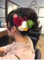 和装のヘアセット