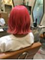 ピンクの派手髪^ ^