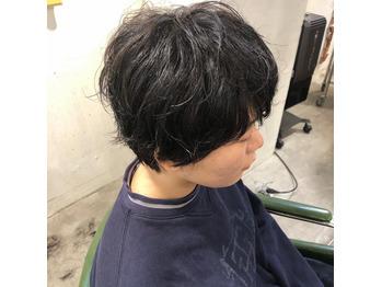 素髪パーマ/ショート/スタイルチェンジ_20200309_1