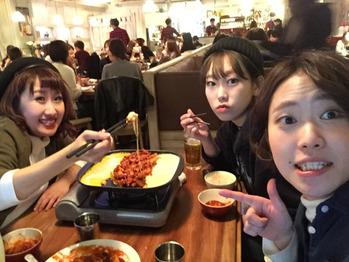 韓国料理*チーズタッカルビ!