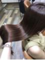 髪のケアを。
