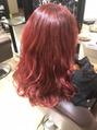 本日の美髪カルテ「レッドカラー」