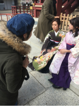 卒業式の袴スタイル撮影してみた!