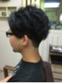 メンズ×クセ毛を生かしたヘアスタイル