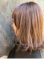 紫でつくるブラウンミディアムヘア◎