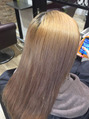 本日の美髪カルテ「ホワイトベージュ完成」