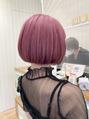 【坪井】カラーシャンプーでキープできるピンクカラー