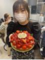 アイリストの西田さんと一緒にケーキ頂きました♪