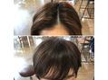 前髪なしから前髪ありに!