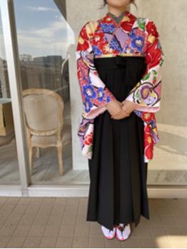 卒業式袴の着付け。川村Asami_20210403_3