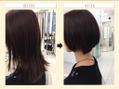 暗髪でも似合うショートスタイルは、時短スタイリング