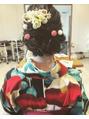 卒業式のヘアセットと袴