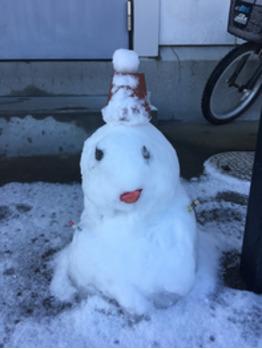 初雪ふりましたぁ☆