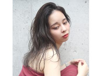 スタイル更新★ラベンダーベージュ×くせ毛風ロブ_20181001_1