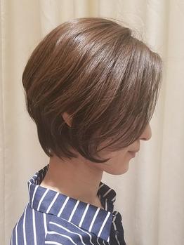 40代50代似合う髪型◎お手入れ簡単なショートボブ