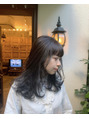 oguma color/透明感抜群の暗髪ネイビーグレーカラー