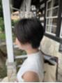 黒髪ショート★カットで素敵に^_^