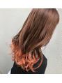 裾カラー☆オレンジ