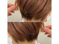 【渋谷】丸みショート×ラテカラー×髪質改善